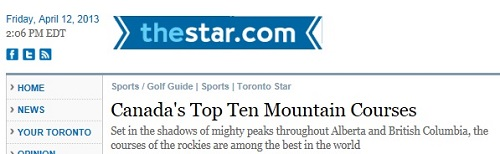 Predator Ridge voted one of Canadas Top 10 Mountain Golf Courses TorontoStar